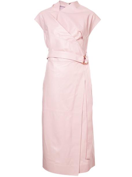 dress sleeveless women purple pink