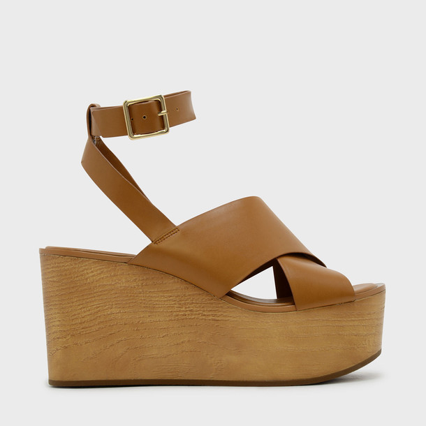 cross sandals platform sandals brown shoes