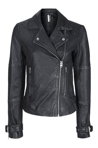 jacket biker jacket wolf leather black