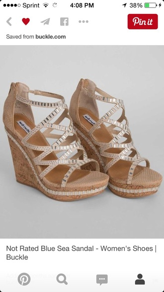 shoes wedges not rated sandals tan cream sequins