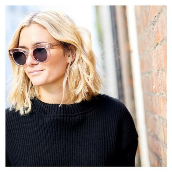 see through sunglasses bold blonde hair frames