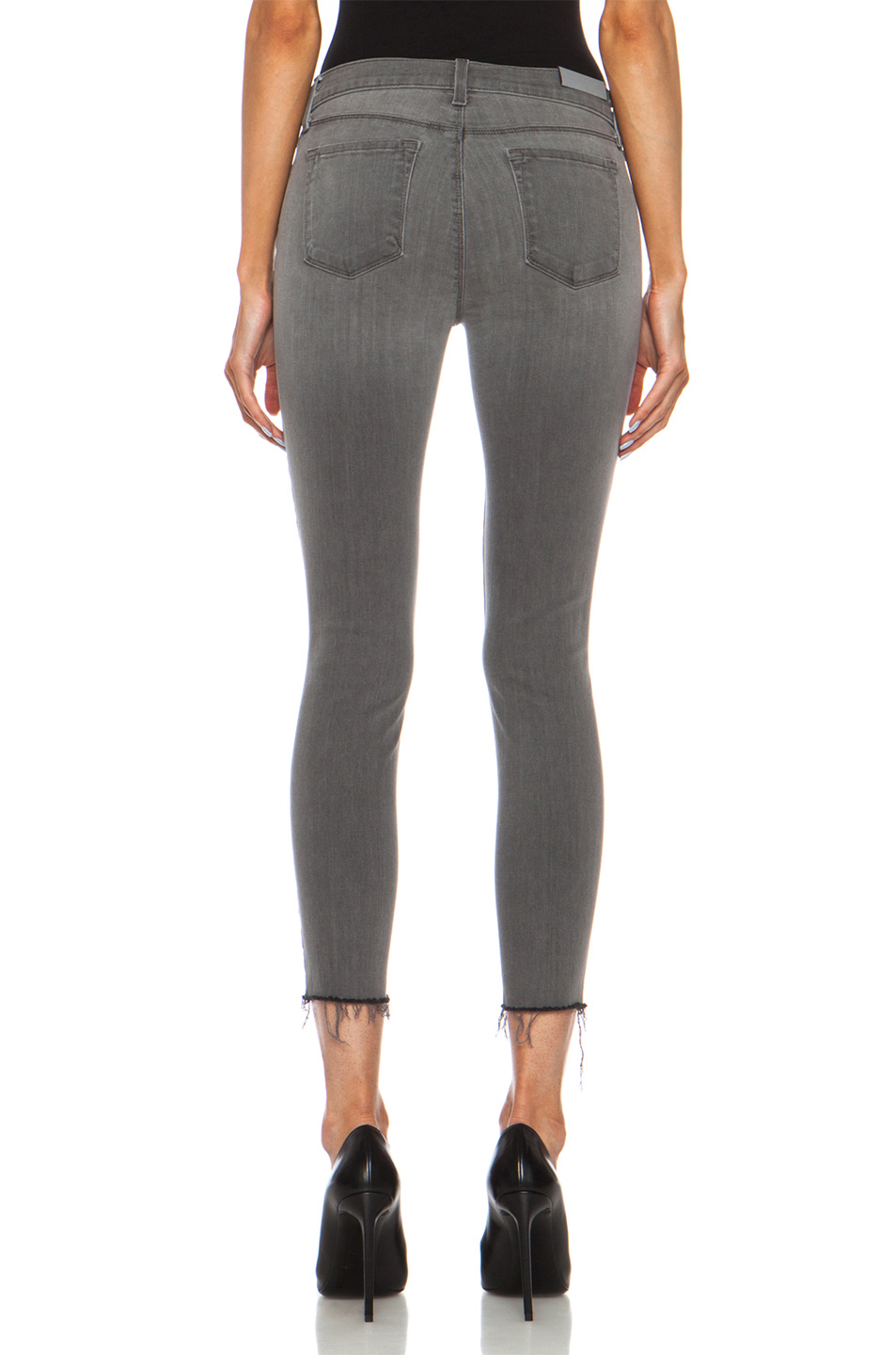 J Brand | Cropped Mid Rise Skinny in Chrome Mercy