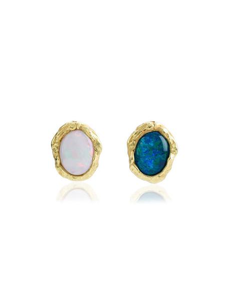 Orit Elhanati women opal earrings gold blue jewels