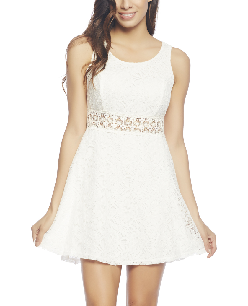 White Lace Dress | Wet Seal