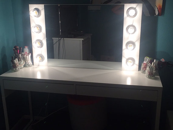 Vanity Mirror With Lights Hollywood Style : Custom Handmade Hollywood Style Vanity Mirror with Lights