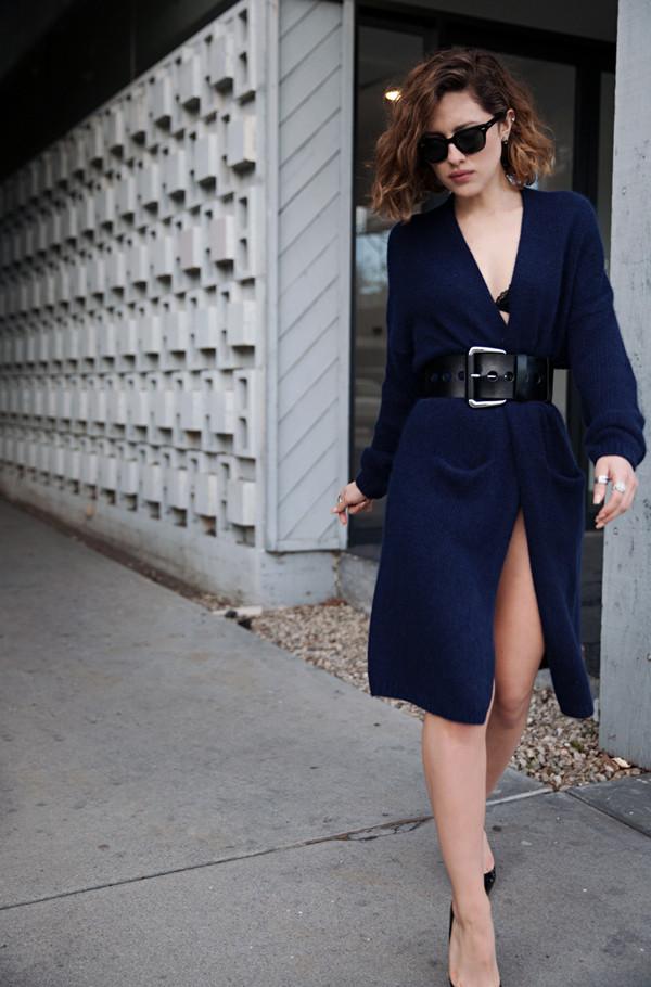 karla's closet sweater belt shoes sunglasses