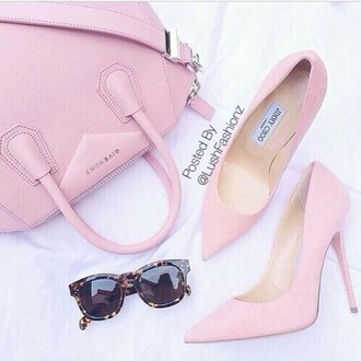 bag pink givenchy jimmy choo pink shoes glasses pink bag fashionlovers thestylegenerator