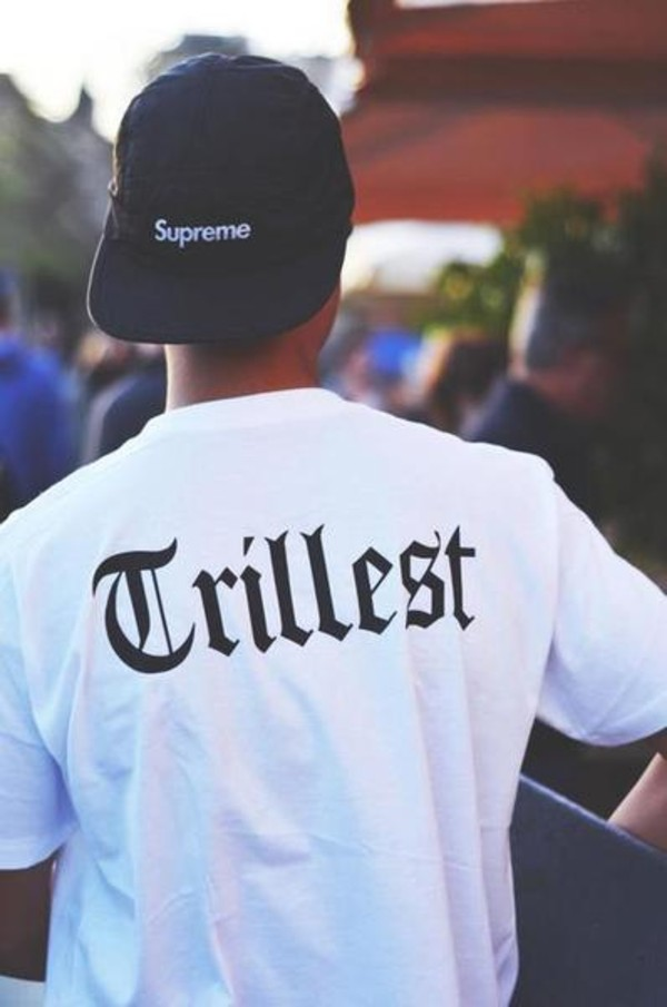 shirt trill black white t-shirt