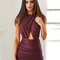Not your girl dress - plum
