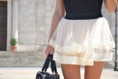 skirt,white skirt,skater skirt,white,striped skirt,flowy,see through