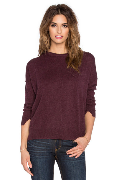 Central Park West sweater burgundy