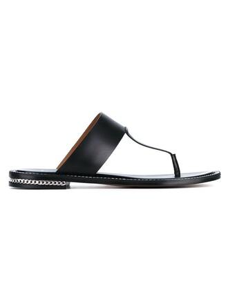 embellished sandals leather black shoes