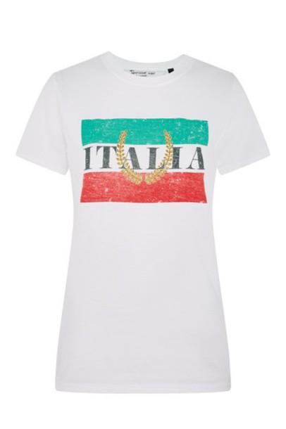 Topshop t-shirt shirt t-shirt white top