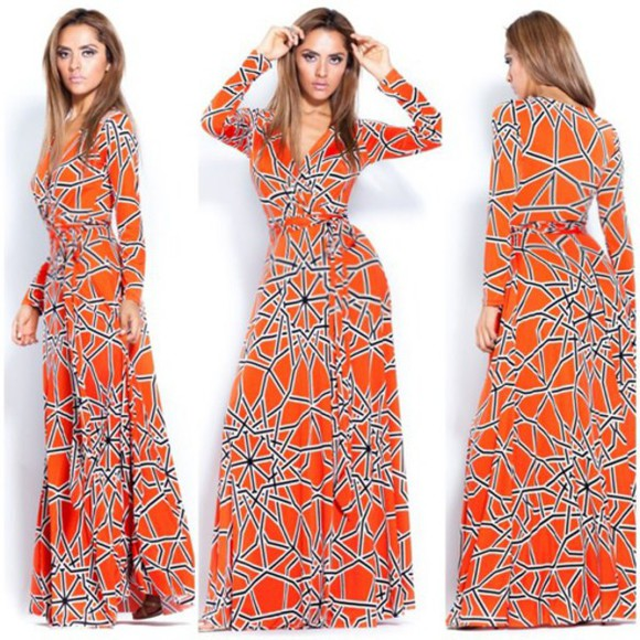 maxi skirt dress maxi dress orange dress pink summer dress