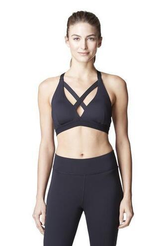 top black criss cross racerback sports bra bikiniluxe