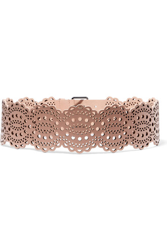 belt waist belt leather rose