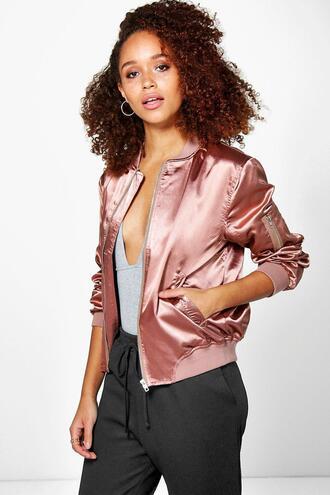 jacket bomber jacket pink bomber jacket satin bomber pink satin bomber jacket 36683