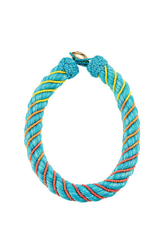 necklace teal jewels