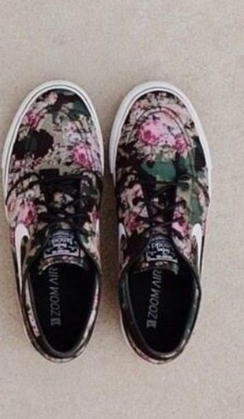 shoes nike nike sb floral