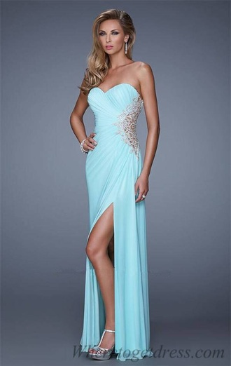 Baby Blue Strapless Dress - Shop for Baby Blue Strapless Dress on ...