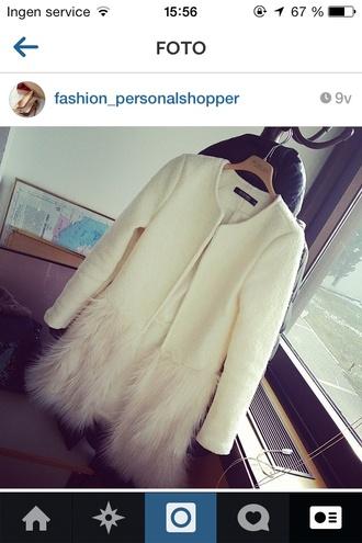 coat white coat fur