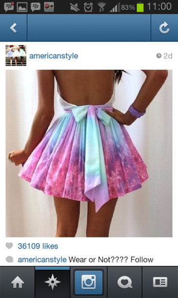 blue tumblr colourful dress beautiful bow model pink
