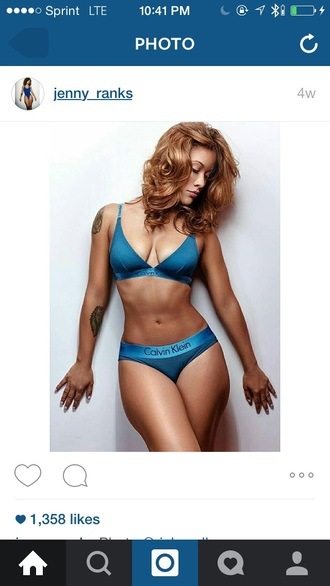 underwear calvin klein underwear calvin klein bra calvin klein blue comfy sexy lingerie set matching set satin