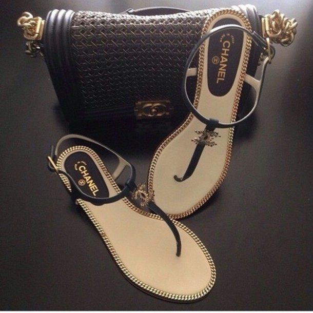 252cb3ea8fca chanel flat sandals shoes chanel flats flats brand flats brand shoes chanel  brand chanel brand flats