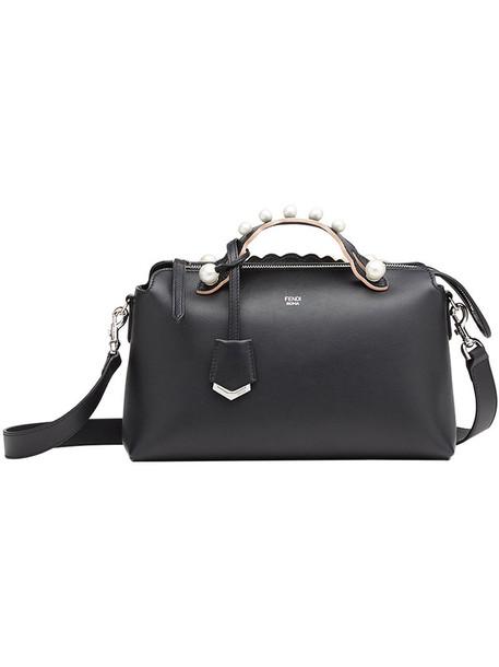 Fendi mini women abs handbag leather cotton black bag