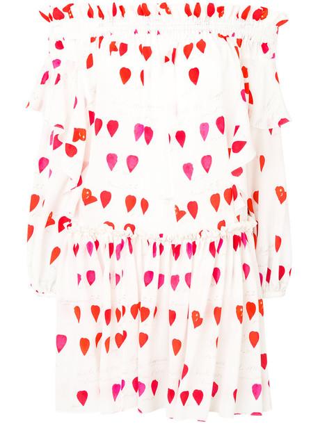 Alexander Mcqueen dress printed dress women white silk