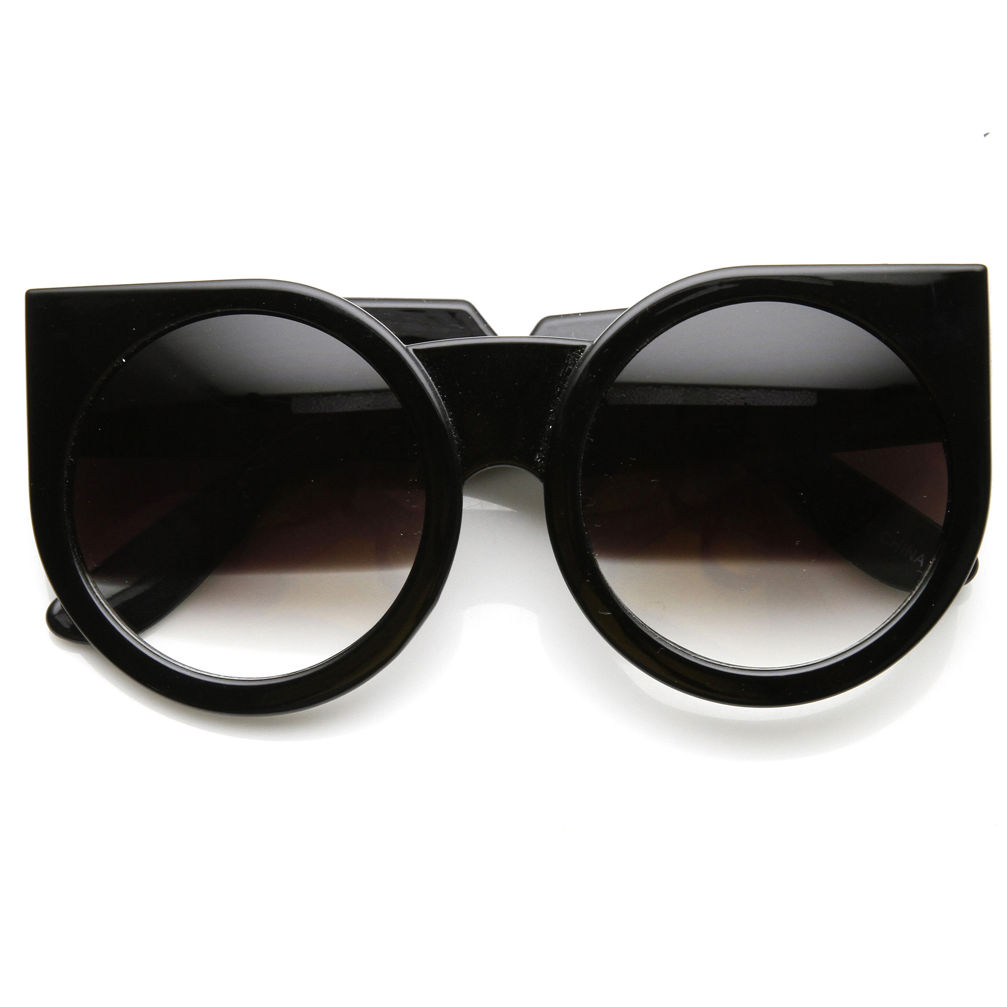 round designer sunglasses  Designer Fashion Super Bold Round Cat Eye Sunglasses 9278