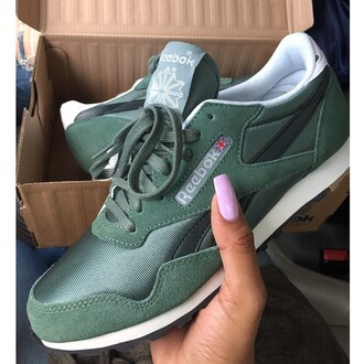 shoes reebok olive green khaki reebok classics reeboks