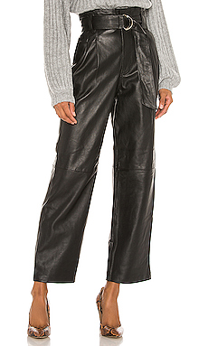 Song of Style Sebastienne Leather Pants in Black from Revolve.com