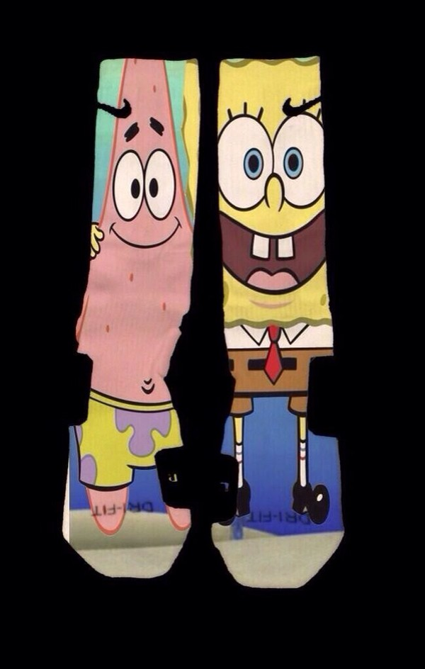 shoes socks nike pro elite spongebob patrick