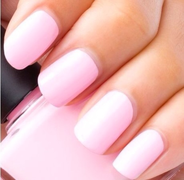 nail polish pink light pink pretty