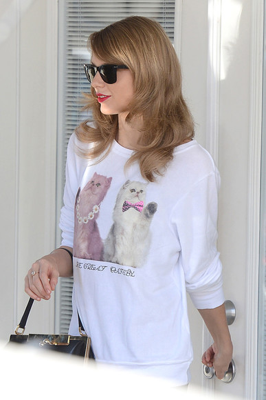 taylor swift shirt sweatshirt great gatsby cats