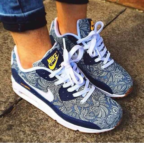 nike womens air max 90 liberty x white purple floral