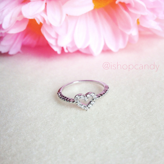 jewels engagement ring silver ishopcandy heart ring heart ring arm candy