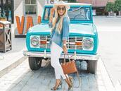 cortinsession,blogger,top,hat,shoes,bag,jewels,sunglasses,pumps,high heel pumps,denim shirt