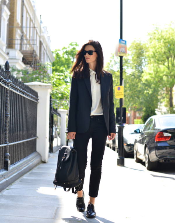 Acne Studios - Cindy stretch black - Suit jackets - SHOP ...