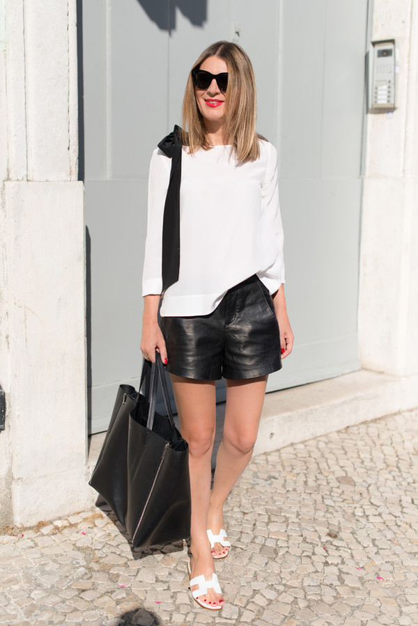 the working girl top bag sunglasses jewels shorts