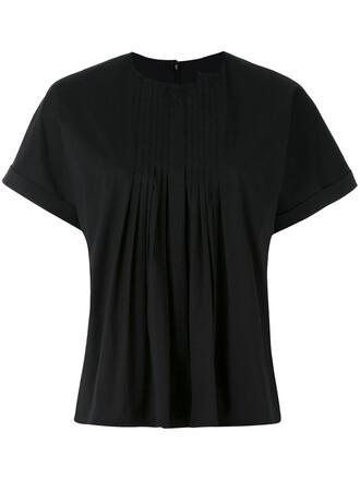 t-shirt shirt women spandex cotton black top
