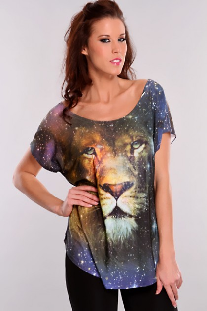 Navy Multi Mystical Lion Short Sleeves Top @ Amiclubwear Top Shirt Clothing Online Store: Dress Shirt,Sexy Womens Shirt,T Shirts,Corset Dress,White T Shirt,Girl T Shirt,Short sleeve top,Sexy Shirts,Hawaiian Shirts,Cute Tops,hawaiian aloha shirt,Tight Shir