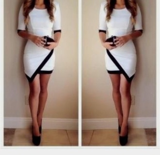 dress white and back