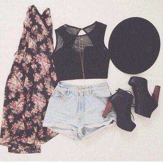 blouse accessories boots clothes cute fashion flowers girl grunge hat hipster jacket jeans look lovely outfit pale pretty back to school shirt shoes shorts spring style summer summer outfits cardigan