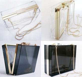 bag clutch plastic transparent  bag classy wishlist