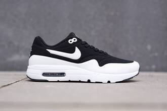 shoes nike air nike air max 1 black shoes running shoes running tennis basket
