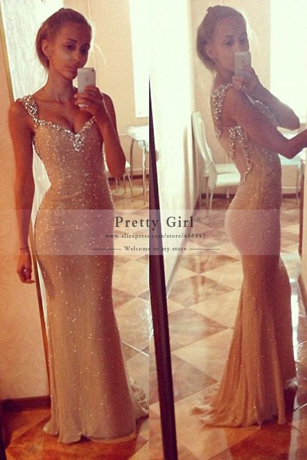 Aliexpress.com : Buy robe de soiree Sexy Sequined Mermaid Prom ...