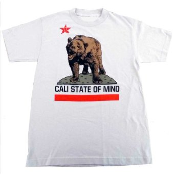 Amazon.com: Graphic Villain California Bear Shirt Cali State of Mind.: Clothing