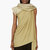 rick owens green crepe sleeveless toga blouse